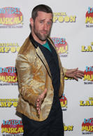 NEW YORK, NY - SEPTEMBER 11: Actor Dustin Diamond attends the sold-out opening performance of 'Bayside! The Musical!' at Theatre 80 St. Marks on September 11, 2014 in New York City.