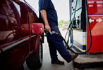 <p></p><p>A customer fuels his vehicle at a gas station in Princeton, Ill.</p>