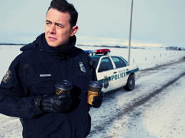 "This photo released by FX Networks shows Colin Hanks as Gus Grimley in ""Fargo,"" season one. The TV series has 18 nominations and one win for the 2014 Emmy Awards. The 66th Primetime Emmy Awards are on Monday, August 25, 2014. (AP Photo/Matthias Clamer/FX)"