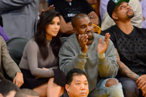 They attend a basketball game between the Houston Rockets and the Los Angeles Lakers at Staples Center on October 28th, 2014 in Los Angeles, California.