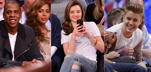 Many Hollywood stars have been fascinated by the game and they make it evident by attending sports event quite often. Check out a list of celebs who were sighted at the courtside cheering as the fans enjoyed a crackling mix of sports and entertainment treat.