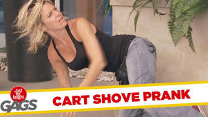 Shopping Cart Shove Prank