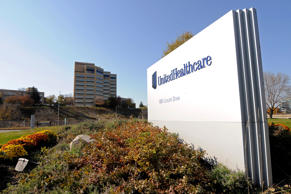 FILE - This Tuesday, Oct. 16, 2012, file photo,shows a portion of The UnitedHeal...