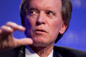Bill Gross speaks during an alumni event hosted by UCLA Anderson School of Management in Beverly Hills, Calif.