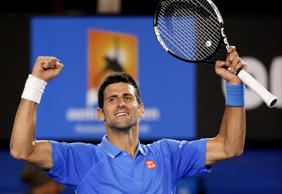 Djokovic showed supreme class to serve his way to a 6-4 7-5 7-5 win, earned without dropping serve.