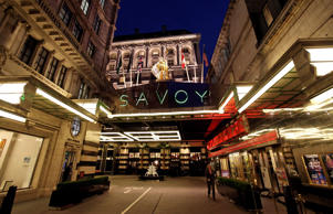 A general view of the main entrance to the newly re-opened Savoy hotel on November 2, 2010 in London, England. The Savoy Hotel, which originally opened in 1889, closed for refurbishment in December 2007. The entire building has been restored by over 1000 craftsmen, and began receiving guests again on October 10, 2010.