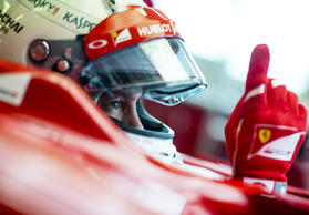 Der viermalige Weltmeister Sebastian Vettel in einem Ferrari F1 F2012 bei Tests in Fiorano am 30. November 2014.