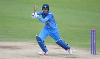 Mithali Raj of India bats during the 1st  Royal London ODI between England and India at North Marine Road on August 21, 2014 in Scarborough, England.