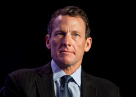 Lance Armstrong, founder and chairman of Livestrong Foundation, looks on during the second day of Clinton Global Initiative annual meeting in New York, U.S., on Wednesday, Sept. 22, 2010.