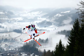 Hannah Kearney of USA in action during Ladies Moguls training at the FIS Freestyle Ski World Championships on January 17, 2015 in Kreischberg, Austria
