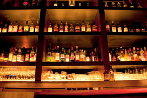 Liquor Bottles at Bar