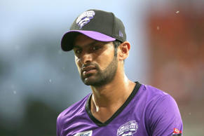 Shoaib Malik of the Hurricanes looks on during the Big Bash League match between the Sydney Thunder and Hobart Hurricanes at Spotless Stadium on January 9, 2015 in Sydney, Australia.