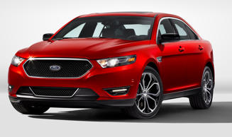 In this product image provided by the Ford Motor Co., the 2013 Ford Taurus SHO is displayed. The SHO offers 365 hp, a broad torque band, all-wheel drive, while delivering 25 EPA-rated highway mpg. Ford Motor Co./AP