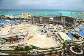 A Jan. 12, 2013, photo shows construction of the Baha Mar resort on the beach on New Providence island, Bahamas.