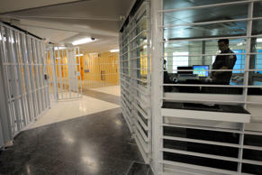 View inside the new D2 building at the Fleury-Merogis men's prison, south of Paris, Oct. 27, 2008.