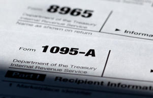 Health care tax forms 1095-A, and 8965.