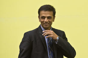 Indian cricketer Rahul Dravid arrives for an international conference of Central Bureau of Investigation and State anti-corruption bureaux  in New Delhi on November 12, 2013.