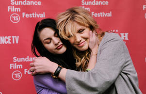 Frances Bean Cobain embraces her mother Courtney Love