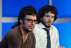 Actors Jemaine Clement (left) and Bret McKenzie (right).