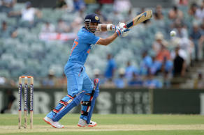 Ajinkya Rahane of India bats during the One Day International match between England and India at WACA on January 30, 2015 in Perth, Australia.