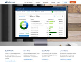 """Screen capture from Betterment.com, the website for a """"robo advisor"""" that uses algorithms (computer-based problem-solving processes) to determine your optimal investment strategy."""