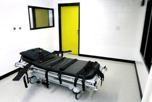 The death chamber at the state prison in Jackson, Ga.