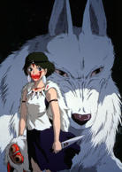 "This Sept. 18, 1997 publicity image provided by Toho shows the title character ""Princess Mononoke,"" heroine of Japan's mega-hit movie. ("