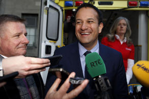 Varadkar targeted by protesters during trip to open hospital block