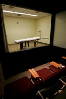 In this Nov. 2005, file photo is the witness room that adjoins the death chamber at the Southern Ohio Correctional Facility in Lucasville, Ohio.
