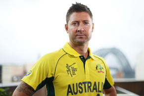 Australian ODI captain, Michael Clarke poses during the Australian 2015 Cricket World Cup squad announcement at the Museum of Contemporary Art on January 11, 2015 in Sydney, Australia.