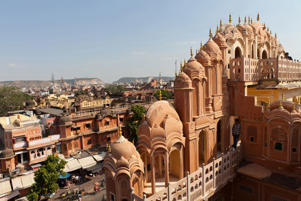 Hawa Mahal (Palace of the Winds) in Jaipur, India.