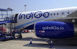 File: An IndiGo Airlines A320 aircraft is parked on the tarmac at Rajiv Gandhi International Airport in Hyderabad March 7, 2012.