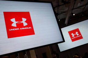Under Armour Inc. signage during a news conference in New York.