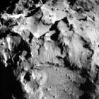 The picture released by the European Space Agency ESA on  Nov. 12, 2014 was taken by the ROLIS instrument on Rosetta's Philae lander during descent from a distance of approximately 3 km from the 4-kilometer-wide (2.5-mile-wide) 67P/Churyumov-Gerasimenko comet.