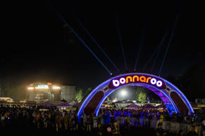 MANCHESTER, TN - JUNE 14:  The Bonnaroo arch and Main Stage during the 2013 Bonnaroo Music And Arts Festival on June 14, 2013 in Manchester, Tennessee.  (Photo by Douglas Mason/Getty Images)