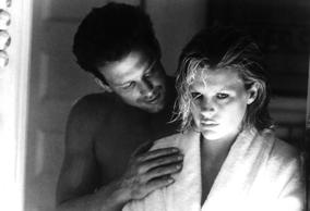 Actors: Kim Basinger and Mickey Rourke Movie: Nine ½ Weeks Year: 1986