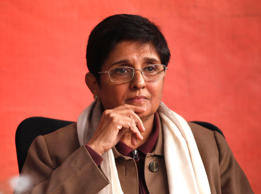 File: The biggest story of the 2015 Delhi Assembly elections, the former IPS officer and former confidante of Anna Hazare is not only the BJP's Chief Ministerial candidate but also the driving force of the party's push in these polls. She faces SK Bagga from the AAP and veteran Bansi Lal from the Congress.