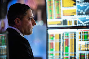 A trader works on the floor of the New York Stock Exchange on Jan. 20, 2015 in New York City.