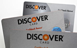 File photo of Discover Financial Services cards in 2007.