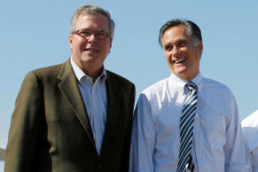 Jeb Bush and Mitt Romney.