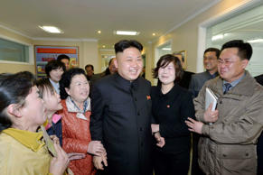 North Korean leader Kim Jong Un (C) visits the Ryugyong Dental Hospital and Okryu Children's Hospital in Pyongyang in this undated photo released by North Korea's Korean Central News Agency (KCNA) March 22, 2014.