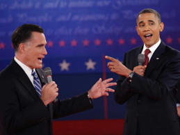 A debate between Mitt Romney and Barack Obama.