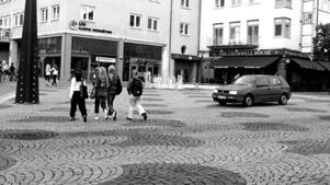 After its transformation, this shared street in Norrköping became less congested.
