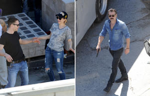 Colin Farrell and Rachel McAdams spotted shooting for True Detective