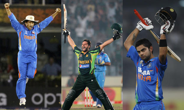 Slide 1 of 26: India vs Pakistan: Classic ODI encounters