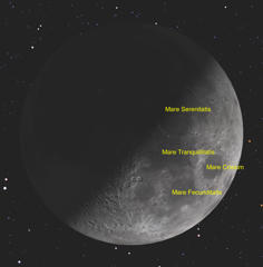 The moon reaches its first-quarter phase on Friday night (March 27), the best time for observing it with binoculars or a small telescope.
