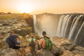 Tourists at Victoria Falls