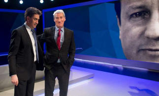 Newspapers vote Paxman as the winner of the Cameron-Miliband show