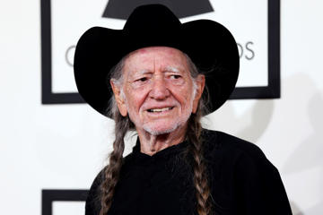Willie Nelson in Los Angeles, January 26, 2014.