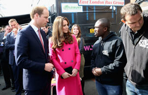 Kate Middleton and Prince William on her final public appearance before she gives birth